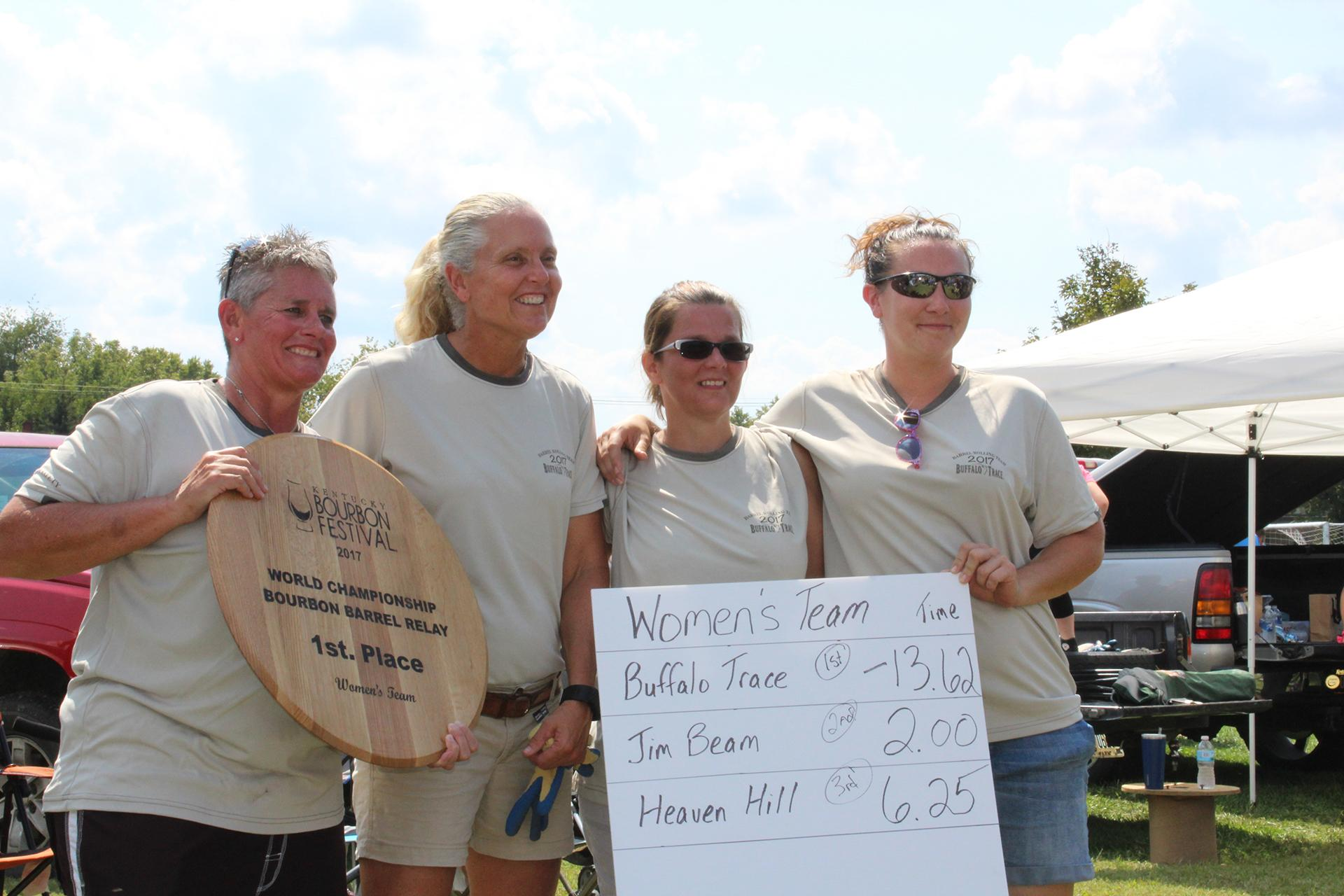 Buffalo Trace Women's Barrel Relay Team